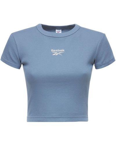 Хлопковая футболка - синяя Reebok Classics