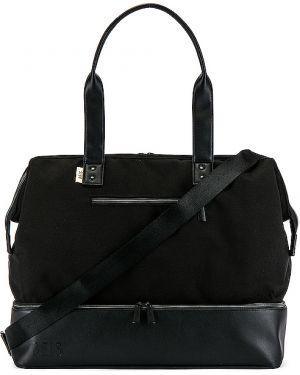 Czarna torebka bawełniana Beis