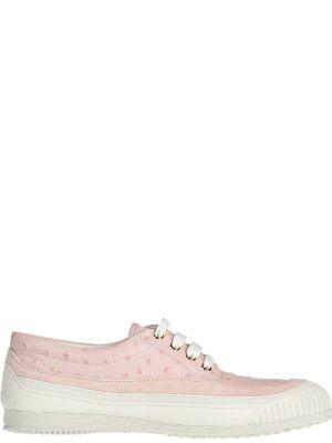 Кроссовки замшевые розовый Hogan