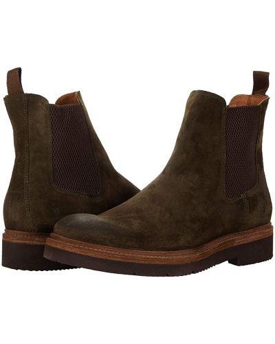 Замшевые ботинки челси - зеленые Frye