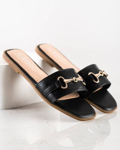 Czarne klasyczne klapki Seastar