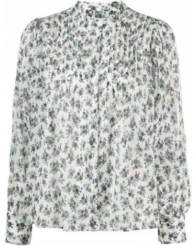 С рукавами шелковая блузка с воротником Masscob