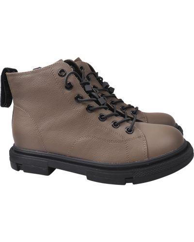 Кожаные ботинки - хаки Berkonty