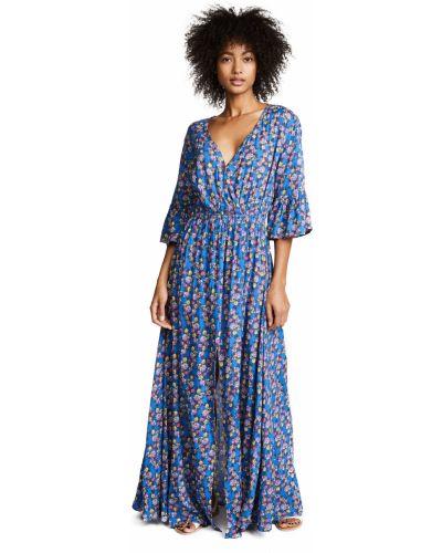 Облегающее платье макси - синее Tiare Hawaii