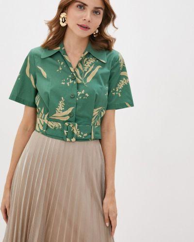 Зеленая блузка с коротким рукавом с короткими рукавами Akhmadullina Dreams