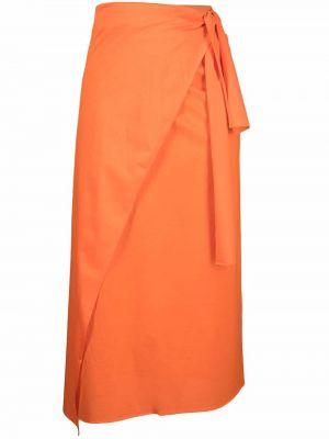 Pomarańczowa długa spódnica bawełniana Eres