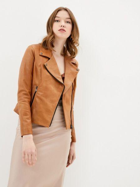 Кожаная куртка осенняя коричневая Ne.ra Collezioni