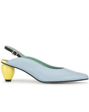 Желтые туфли-лодочки с острым носом на каблуке Yuul Yie