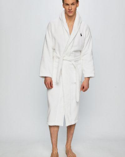 Халат белый с узором Polo Ralph Lauren