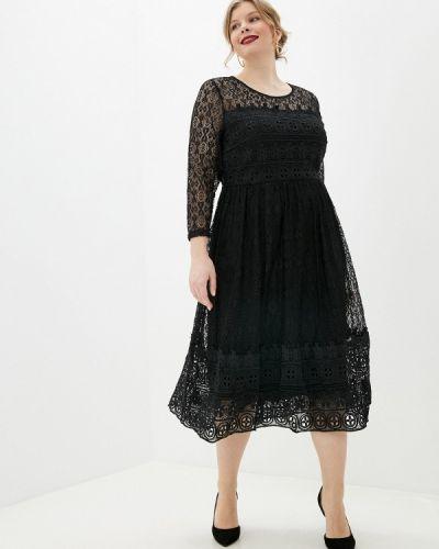 Повседневное черное платье Yumi