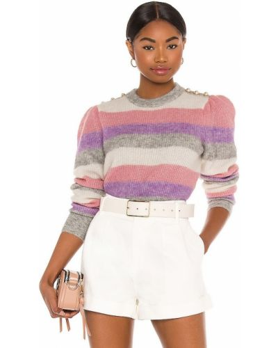 Розовый шерстяной свитер с жемчугом Generation Love