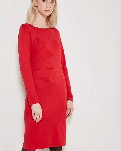 Платье весеннее красный Adzhedo