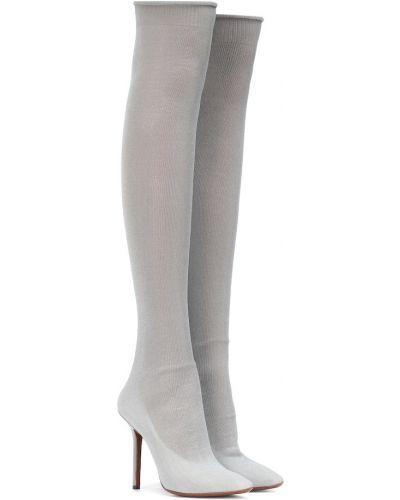 Сапоги на высоком каблуке до колена Vetements