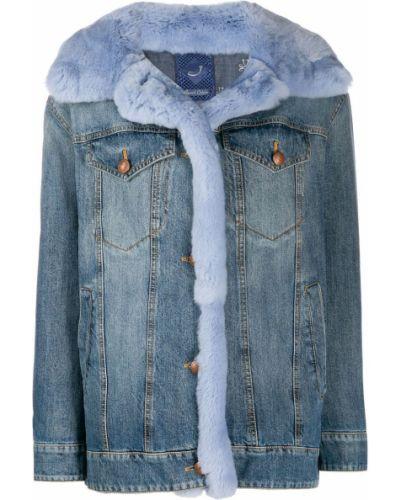 Синяя джинсовая куртка с манжетами Jacob Cohen