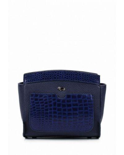 Синяя кожаный сумка Labbra