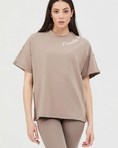 Бежевая футболка с короткими рукавами Jam8