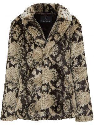 Акриловое бежевое пальто для полных Unreal Fur