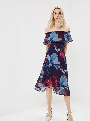 Повседневное платье осеннее фиолетовый Wallis