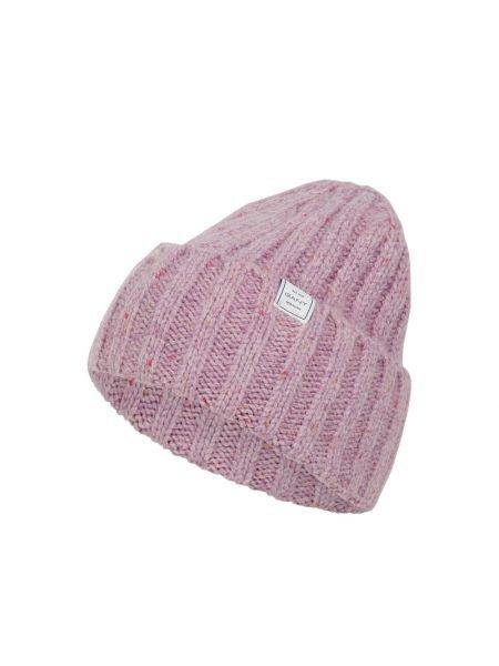 Prążkowana fioletowa czapka wełniana Gant