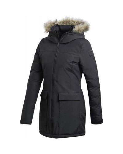 Спортивная теплая черная зимняя куртка Adidas