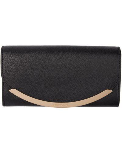 Czarny portfel skórzany See By Chloe