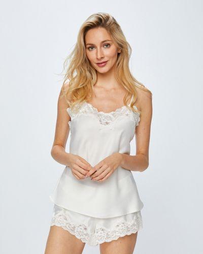 Рубашка с поясом белая Lauren Ralph Lauren