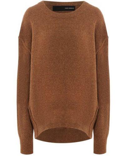 Шерстяной коричневый свитер оверсайз для взрослых Isabel Benenato