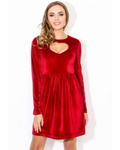 Красное платье с длинными рукавами Tutto Bene