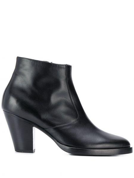 Черные ботинки на каблуке на каблуке на молнии матовые A.f.vandevorst