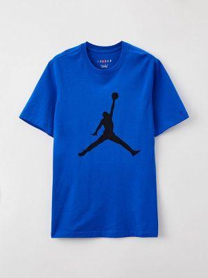 Синяя футболка Jordan
