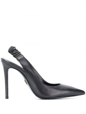 Кожаные с ремешком черные туфли Michael Michael Kors