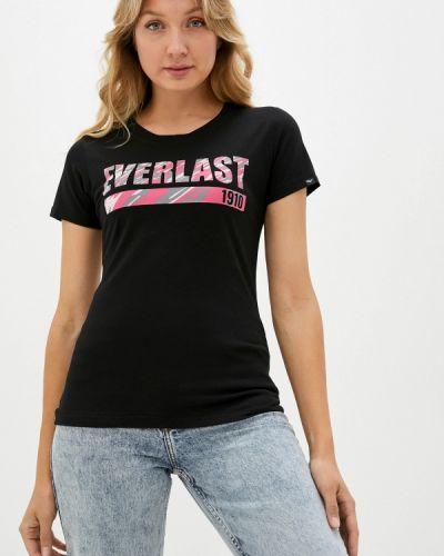 Черная футболка Everlast