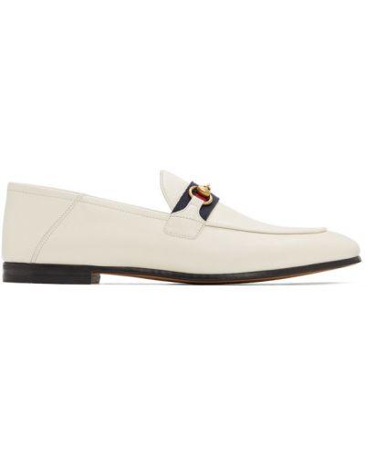 Czarny loafers na pięcie z prawdziwej skóry Gucci