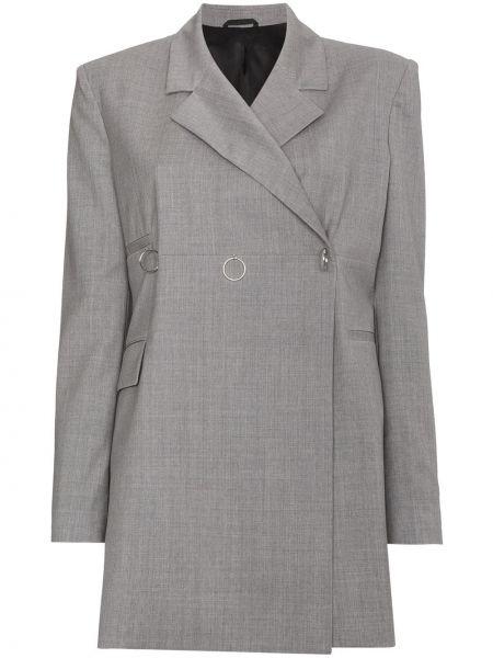 Шерстяной серый пиджак двубортный 1017 Alyx 9sm