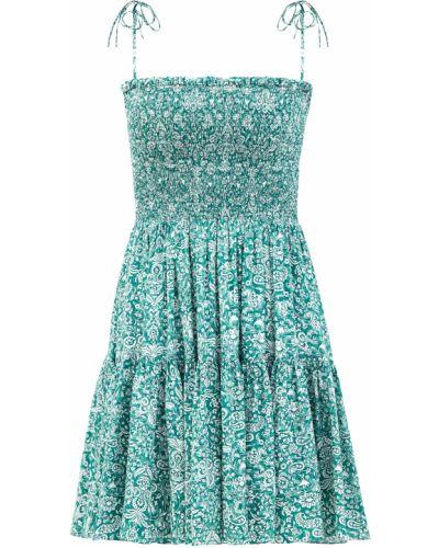 Приталенное шелковое зеленое платье мини Alexander Terekhov