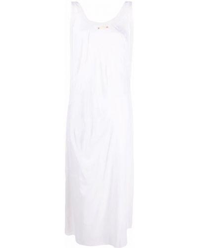Шелковое платье - белое Maison Margiela