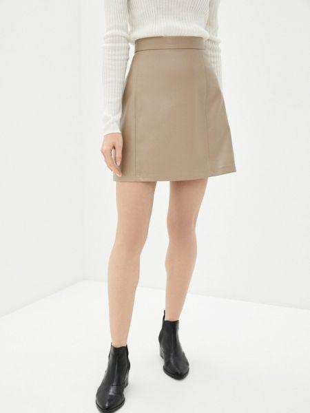 Платье бежевое кожаное Concept Club