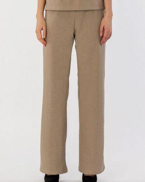 Свободные брюки расклешенные бежевый S&a Style