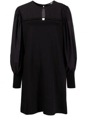 С рукавами черное платье макси трапеция Karl Lagerfeld