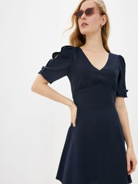 Платье прямое синее Naf Naf