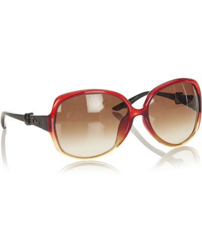 Czerwone okulary Dior Vintage