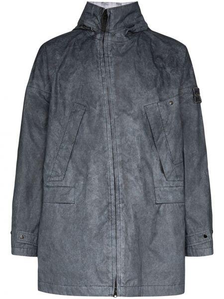 Płaszcz z kapturem kurtka grochowa membrana Stone Island