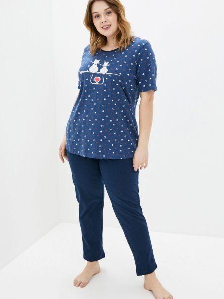 Пижама пижамный синий Ulla Popken