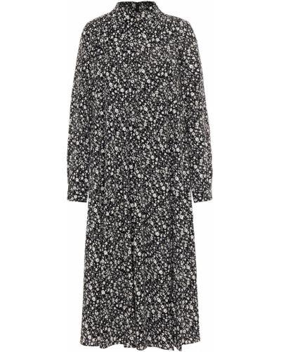 Черное платье миди с подкладкой из крепа Mikael Aghal