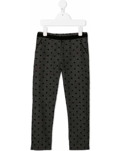 Брючные прямые черные прямые брюки с карманами Tartine Et Chocolat