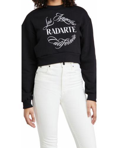 Ватный хлопковый черный свитшот Rodarte
