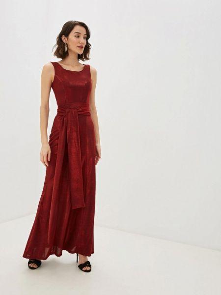 Вечернее платье бордовый осеннее Pavesa