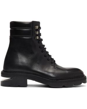 Сапоги на высоком каблуке черные на шнуровке Alexander Wang