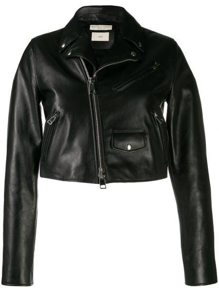 Классическая черная куртка на молнии с манжетами Bottega Veneta