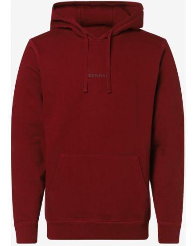 Czerwona bluza z kapturem Denham